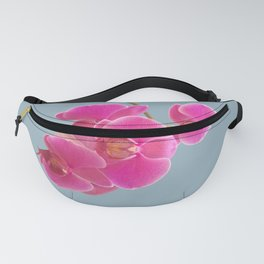 Orchids Photo to Paint on Blue Fanny Pack