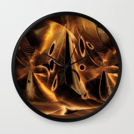 """Line & Shape: Landscaped"" Wall Clock"