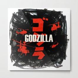 Go-zilla Metal Print