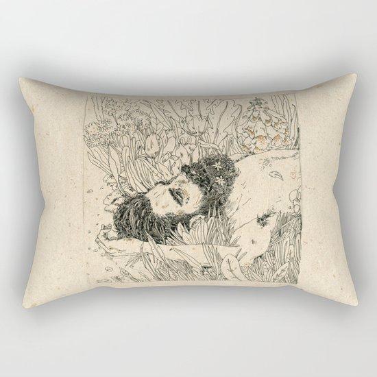 Drowning in foxdowns. Rectangular Pillow