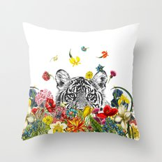 Happy Tiger Throw Pillow