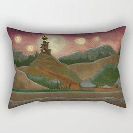 Night landscape Rectangular Pillow