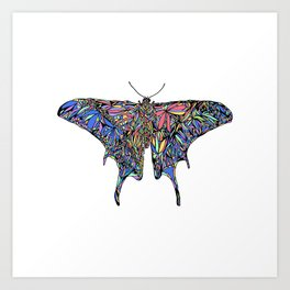 Polilla Rainbow Art Print