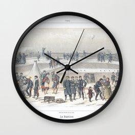Paris art print Paris Decor office decoration vintage decor SIEGE & BASTION of Paris Wall Clock
