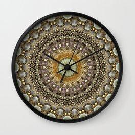 Antique Jeweled Mandala Wall Clock