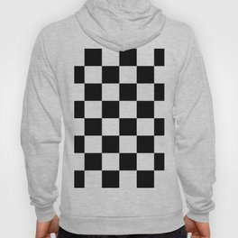 Contemporary Black & White Gingham Pattern Hoody