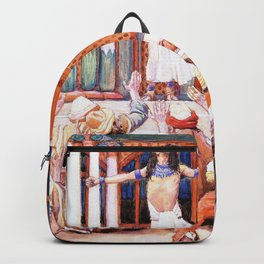 James Tissot - Joseph Makes Himself Known to His Brethren - Digital Remastered Edition Backpack