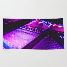 Neon Piano Beach Towel