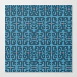 mod blue waves Canvas Print