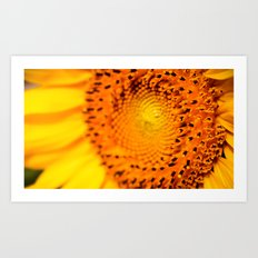 In your face yellow Art Print
