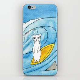 Meow The Cat's Surfing Adventure iPhone Skin