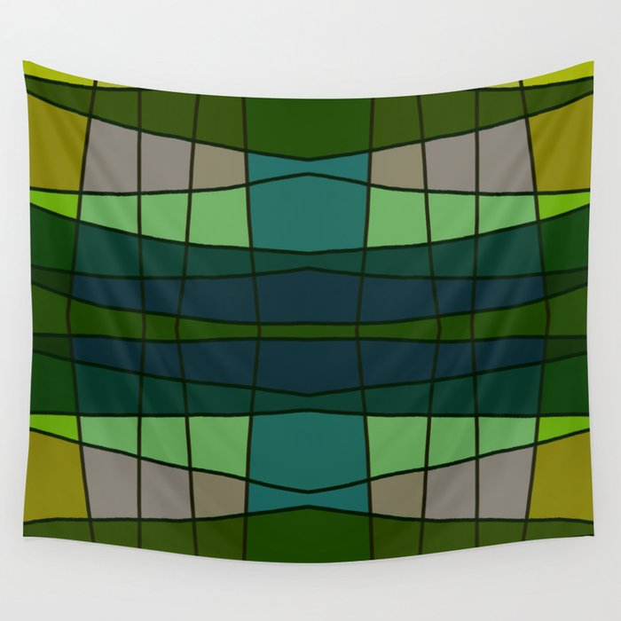 Green Pattern Turtle Wall Tapestry