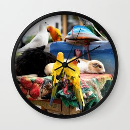 The Great A-meow-ican Melting Pot Wall Clock