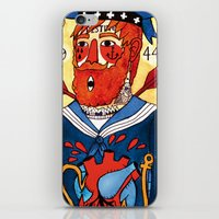 sailor iPhone & iPod Skins featuring Sailor by Ricardo Cavolo