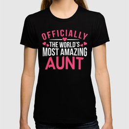 Officially Amazing Aunt Gift Ideas T-shirt