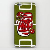 liverpool iPhone & iPod Skins featuring Suarez - Liverpool  by Ray Kane