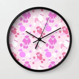 50s Pink Poodle Skirt Wall Clock