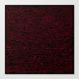 fun, red on black Canvas Print