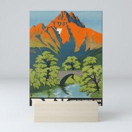 retro Plakat bex ligne du simplon bains salins villegiature golf bex Mini Art Print