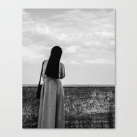 sister Canvas Prints featuring sister by Wojtek Sadowski