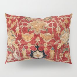 Indo Esfahan Central Persian Rug Fragment Print Pillow Sham