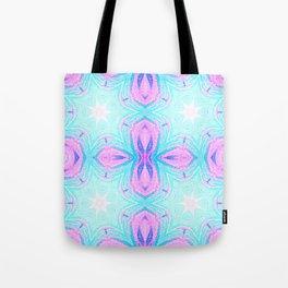 Pink & Blue Star Explosion Pastel Pattern Tote Bag