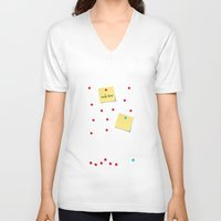 write V-neck T-shirts featuring Write Here by Shu | Formanuova