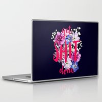 get shit done Laptop & iPad Skins featuring Get Shit Done by farsidian