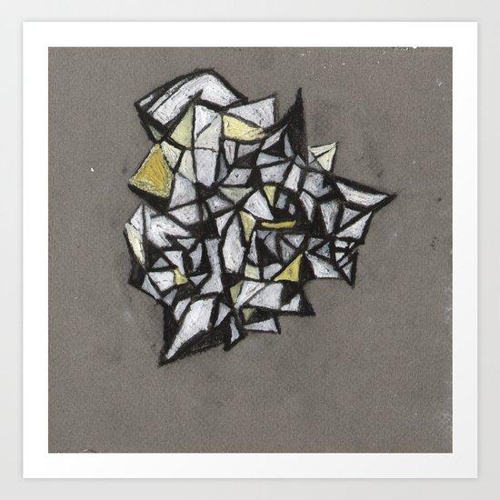 Yellow Structure Art Print