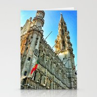 brussels Stationery Cards featuring Grand Place Brussels by Judith Altman