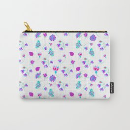 ditsy flowers inspired by Persian tile/ ditsy flowers for fashion print Carry-All Pouch