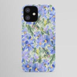 Blue Poppy Field iPhone Case