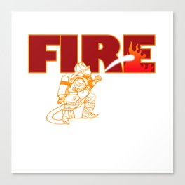 Firefighter Fire Hose Engine Station Brigade Gift Canvas Print