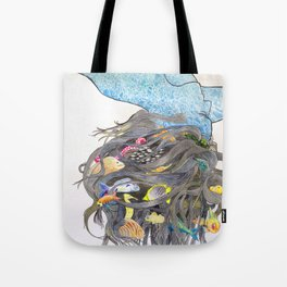 Water Based Life Form Tote Bag