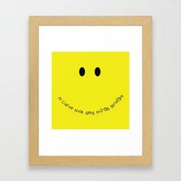 Yellow Smile Framed Art Print