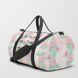 Surfer girl quotes Duffle Bag