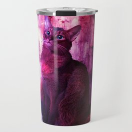 The Sunkissed Abyssinan Cat from Planet Kitarus Travel Mug