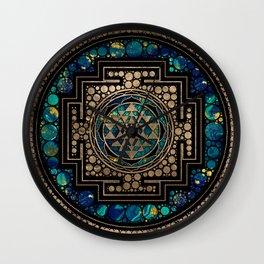 Sri Yantra  / Sri Chakra Marble and Gold Wall Clock