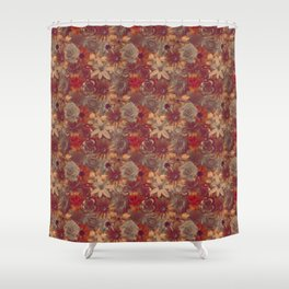 Classic Elegance Lust Flowery Pattern Shower Curtain