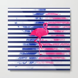 Summer Flamingo Metal Print