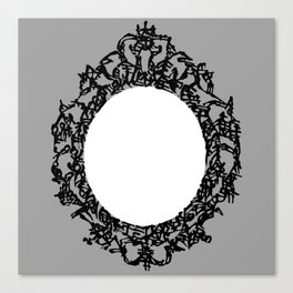 Kanji Calligraphy Art :a decorative mirror Canvas Print