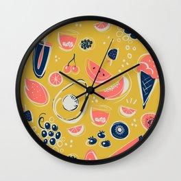 Summer Food Fiesta Wall Clock