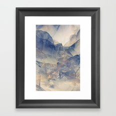 Tulle Mountains Framed Art Print