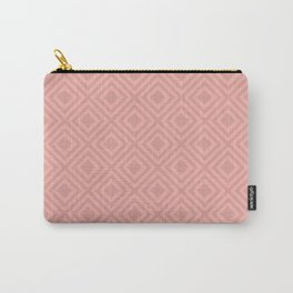 Blush Pink Modern Geometric Pattern Carry-All Pouch