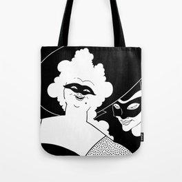 Carnival or Masquerade Ball black and white art Tote Bag
