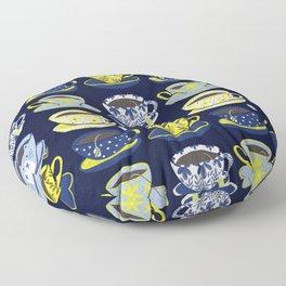Tea Time – Navy & Yellow Floor Pillow