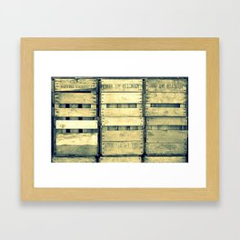 Apple Crate Wooden Texture Framed Art Print