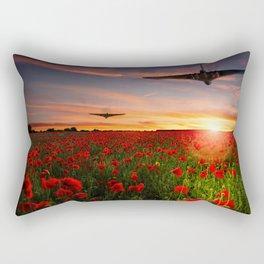 Poppy Vulcans Rectangular Pillow