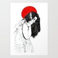 luna roja Art Print