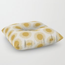 Golden Sun Pattern Floor Pillow
